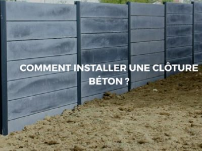Une clôture en béton: Une structure solide et durable dans le temps