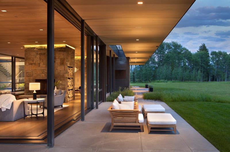 veranda Maison contemporaine